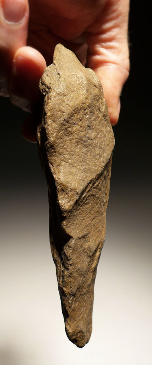 ACH213- PREHISTORIC ACHEULIAN HANDAXE OF EXCEPTIONAL WORKMANSHIP MADE BY HOMO ERGASTER (ERECTUS)