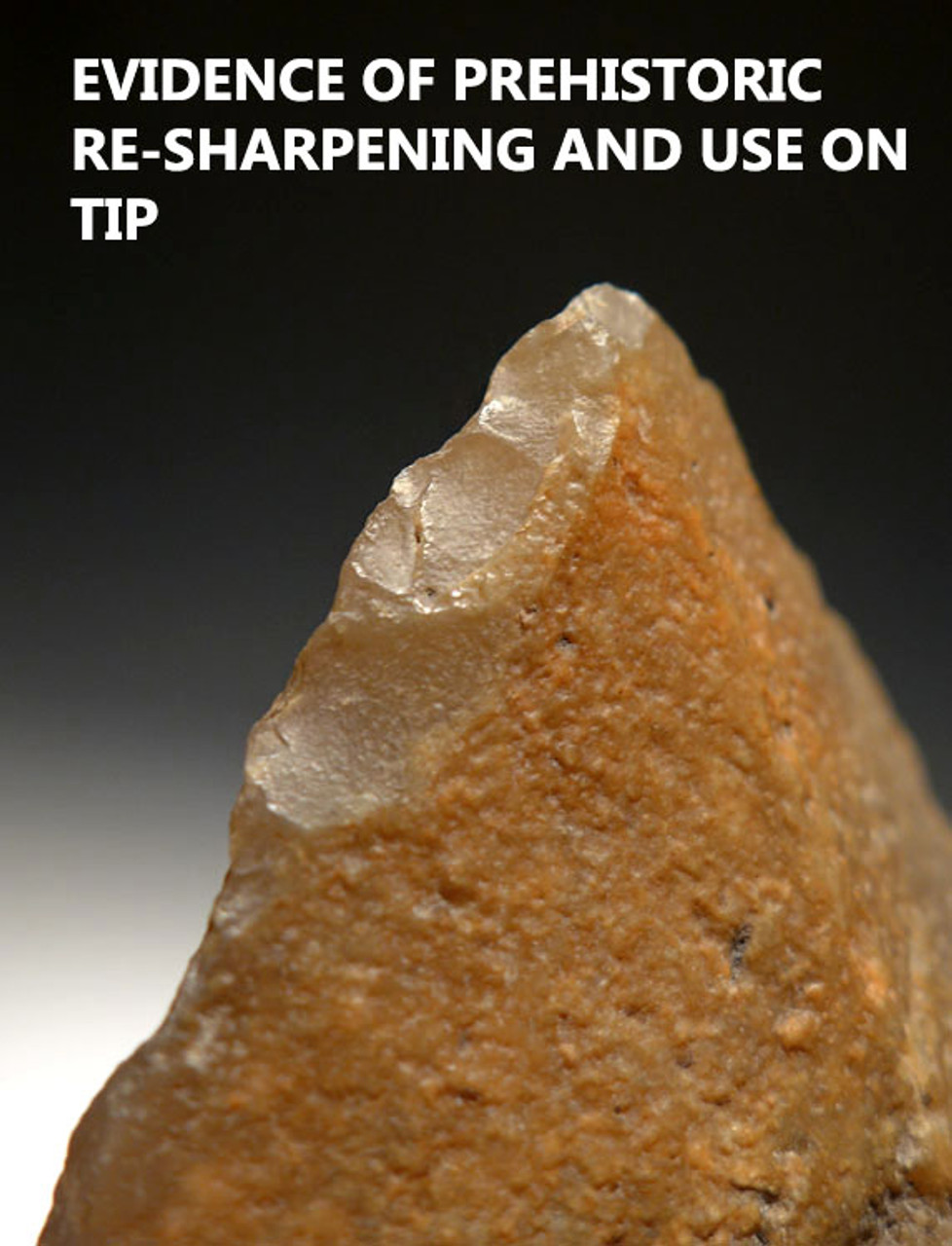 M361 - RARE LEVALLOIS MOUSTERIAN HANDAXE FROM AFRICA MADE OF CHALCEDONY