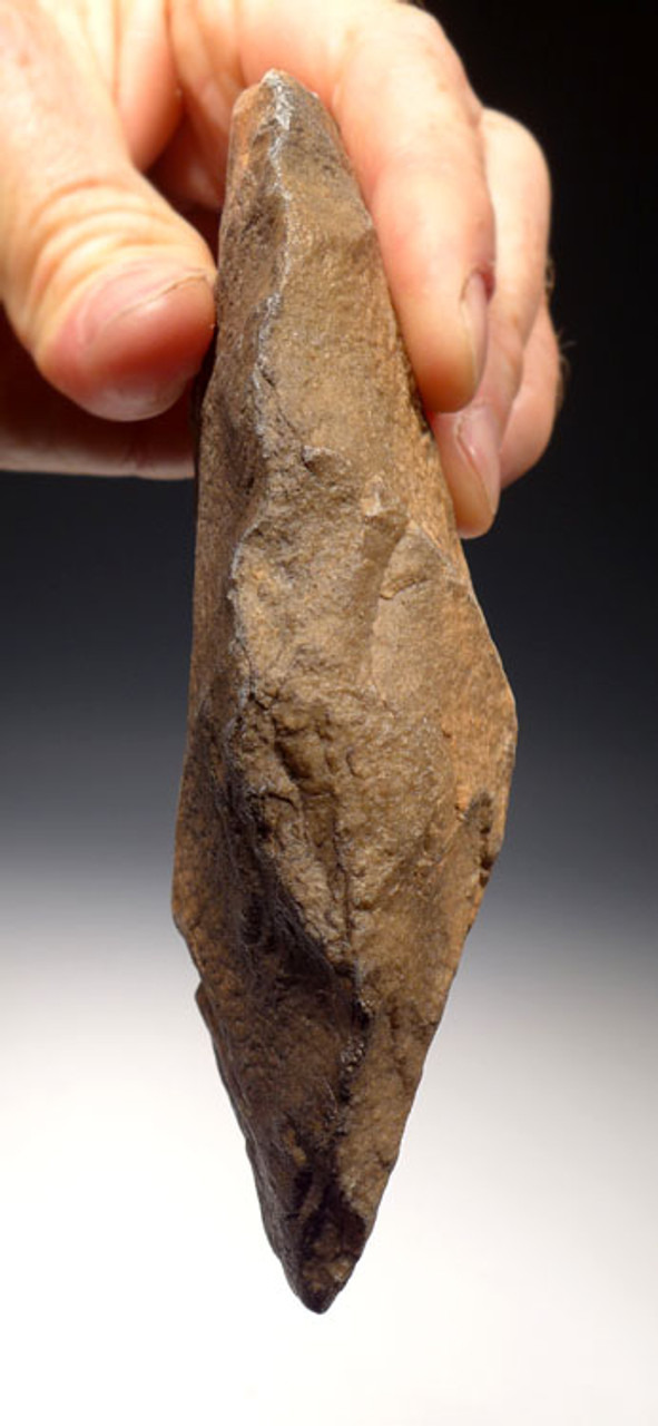 ACH245 - AFRICAN ACHEULIAN CLEAVER HANDAXE WITH INTELLIGENT GRIP FEATURES MADE BY HOMO ERGASTER
