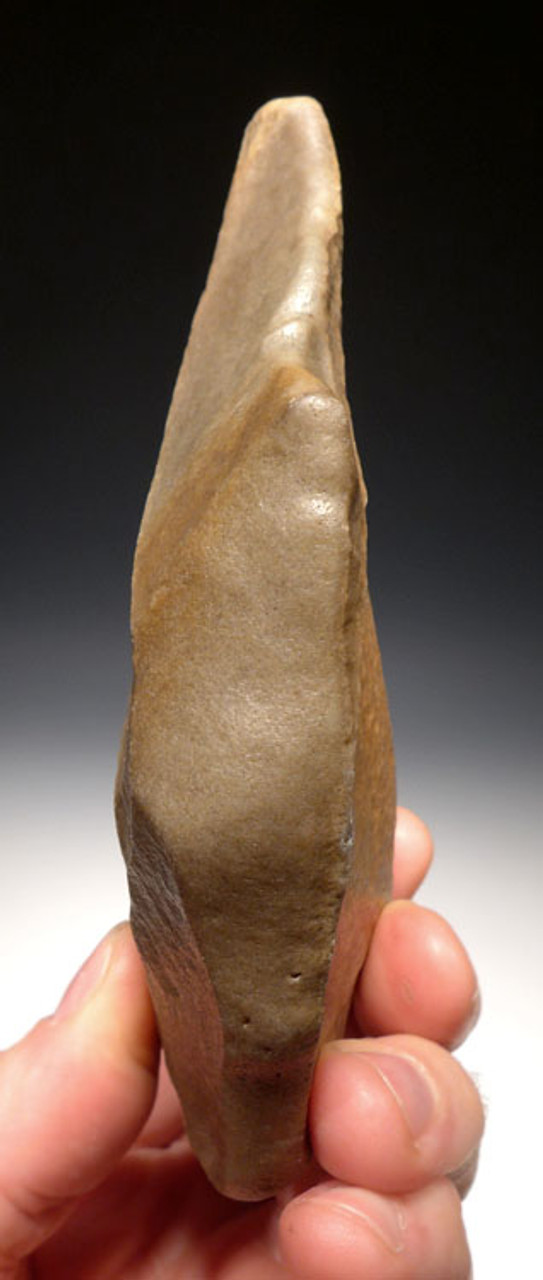 ACH238 - LOWER PALEOLITHIC UNIFACIAL ACHEULIAN HAND AXE MADE BY HOMO ERGASTER (ERECTUS)