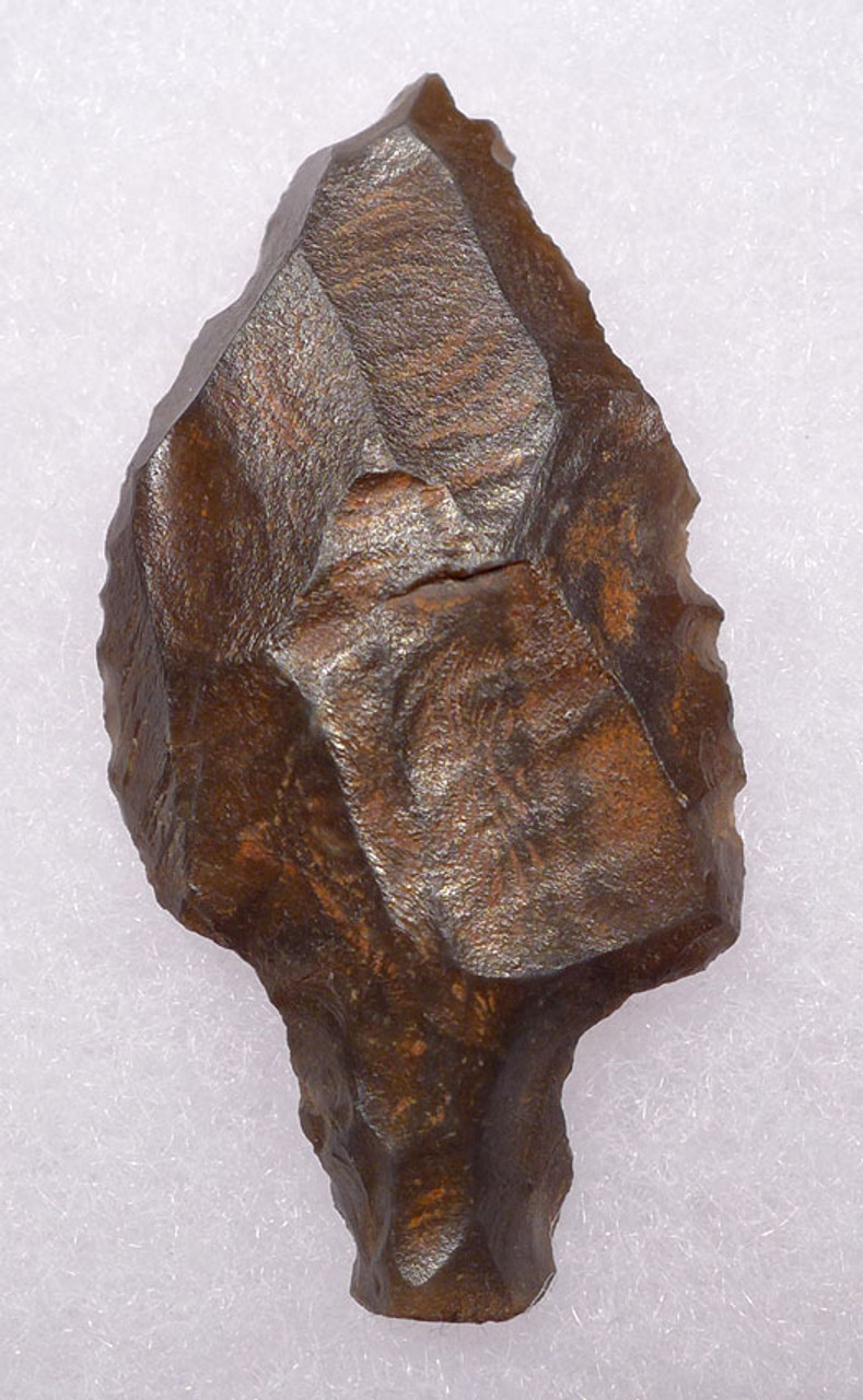 AT073 - RARE PETRIFIED WOOD MIDDLE PALEOLITHIC ATERIAN TANGED POINT - OLDEST KNOWN ARROWHEAD