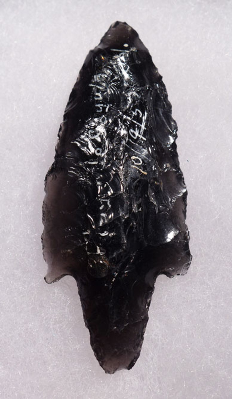 PC231 - SUPERB TRANSLUCENT PRE-COLUMBIAN OBSIDIAN ATLATL HEAD PROJECTILE POINT