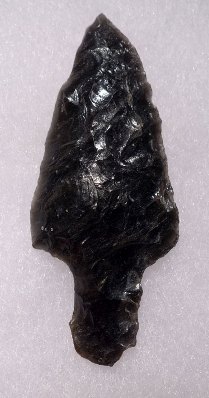 PC241 - SUPERBLY MADE PRE-COLUMBIAN OBSIDIAN ATLATL HEAD PROJECTILE POINT WITH PROVENANCE