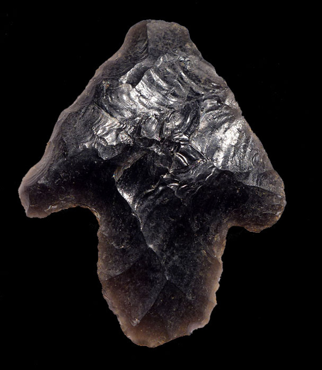 PC245 - SUPERBLY MADE PRE-COLUMBIAN OBSIDIAN BARBED ATLATL HEAD PROJECTILE POINT WITH PROVENANCE