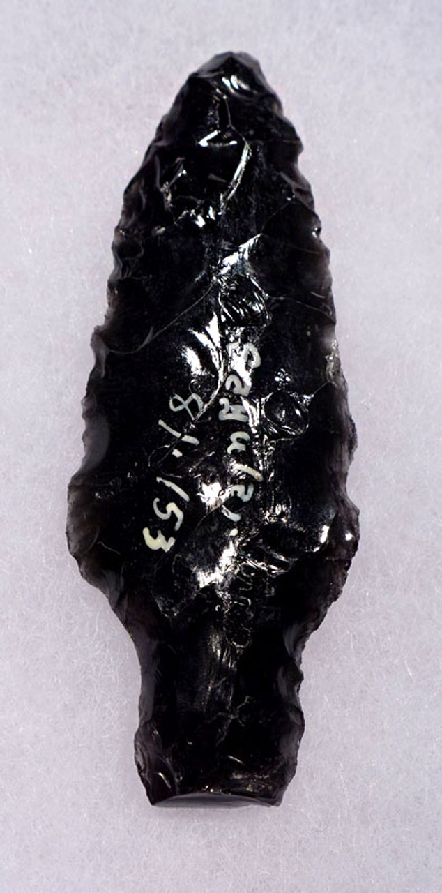 PC247 - SUPERBLY MADE PRE-COLUMBIAN OBSIDIAN ATLATL HEAD PROJECTILE POINT WITH PROVENANCE