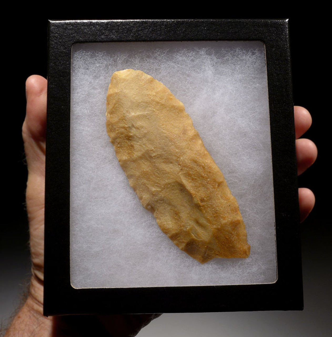 """CAP191 - RARE LARGE BIFACIAL TENERIAN AFRICAN NEOLITHIC """"TONGUE"""" BLADE FROM THE PEOPLE OF THE GREEN SAHARA"""