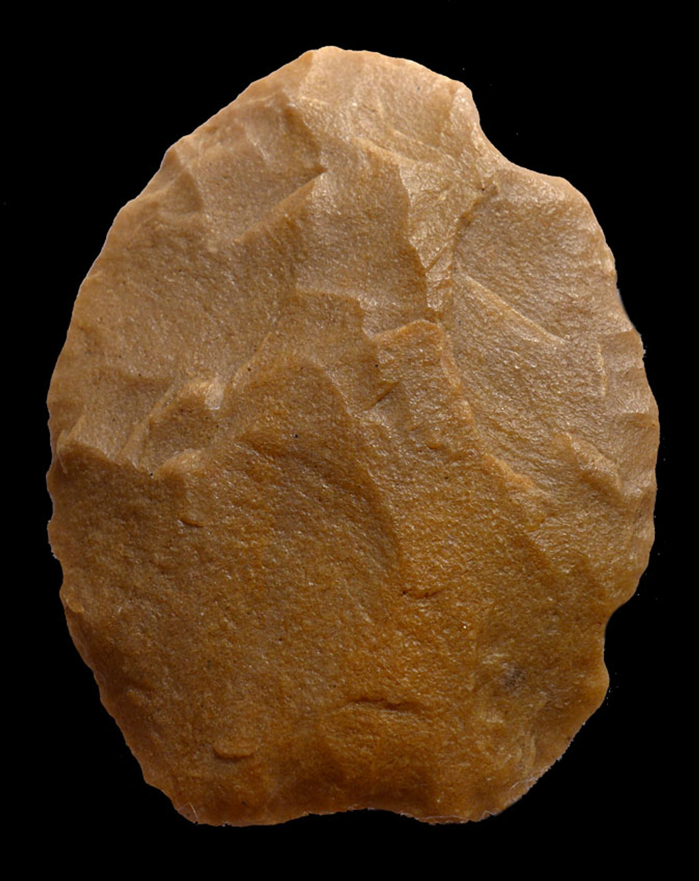 CAP189 - RARE TENERIAN AFRICAN NEOLITHIC LARGE MULTI-PURPOSE OVATE BLADE SCRAPER FROM THE PEOPLE OF THE GREEN SAHARA