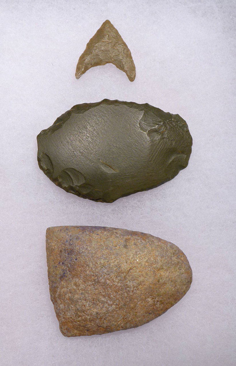 CAP190 - SET OF 3 TENERIAN AFRICAN NEOLITHIC ARTIFACTS FROM THE PEOPLE OF THE GREEN SAHARA