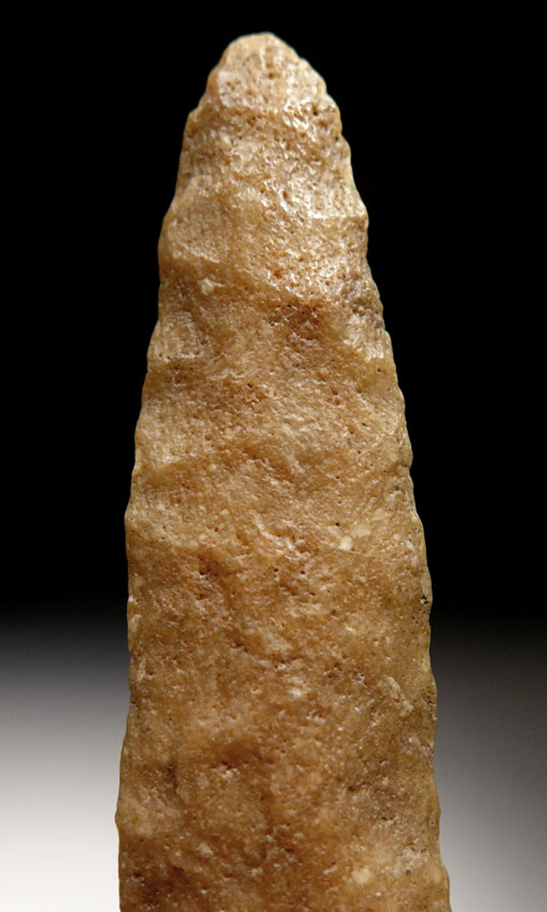 CAP196 - RARE BIFACIAL TENERIAN AFRICAN NEOLITHIC SPEARHEAD FROM THE PEOPLE OF THE GREEN SAHARA