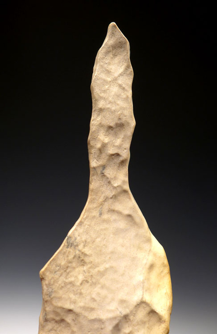 CAP202 - RARE MUSEUM CLASS AFRICAN NEOLITHIC LARGE FLINT KNIFE AND PICK FROM THE CAPSIAN CULTURE