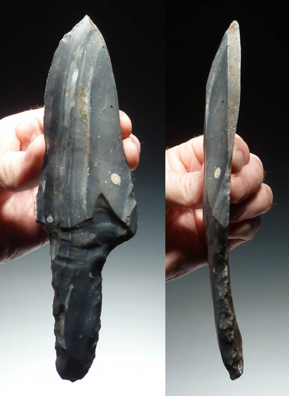 PC054 -  MUSEUM GRADE DOUBLE SET OF LARGE MAYAN FLAKED CHERT MACROBLADE DAGGERS