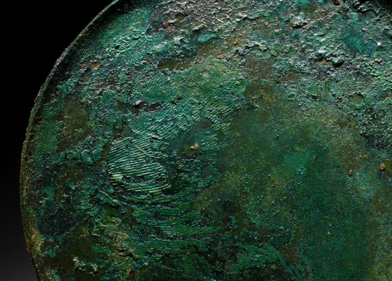 NE166 - RARE ANCIENT BRONZE NEAR EASTERN LURISTAN VOTIVE OFFERING PLATES AND SERVER SET