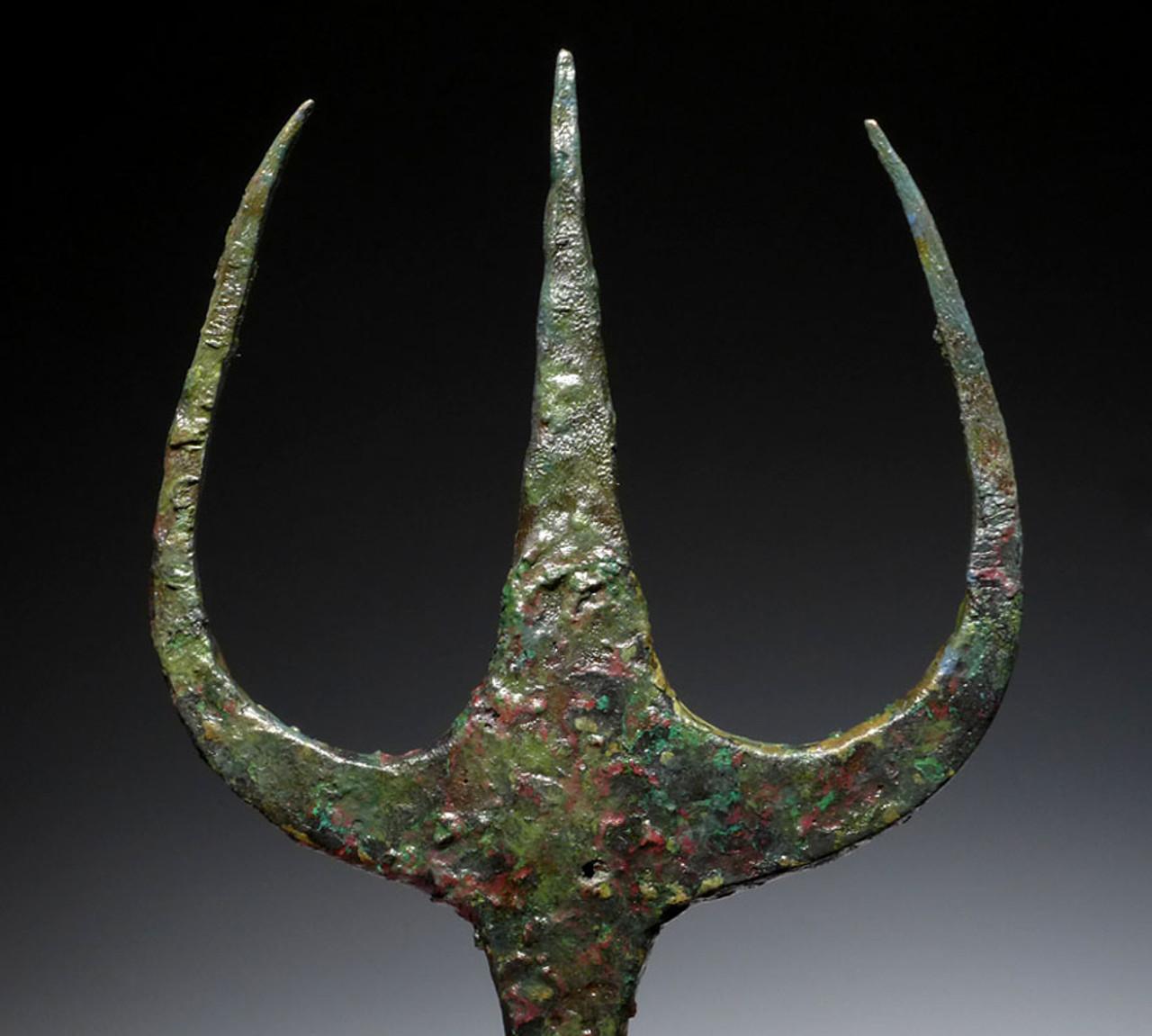 NE168 - ULTRA RARE ANCIENT BRONZE NEAR EASTERN LURISTAN TRIDENT SPEAR SET