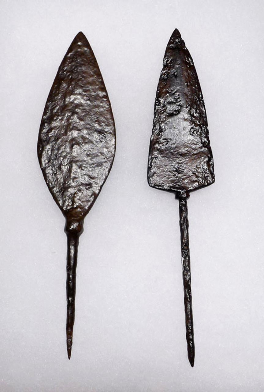 R128 - LARGE ANTI-CAVALRY BYZANTINE ROMAN IRON ARROWHEADS