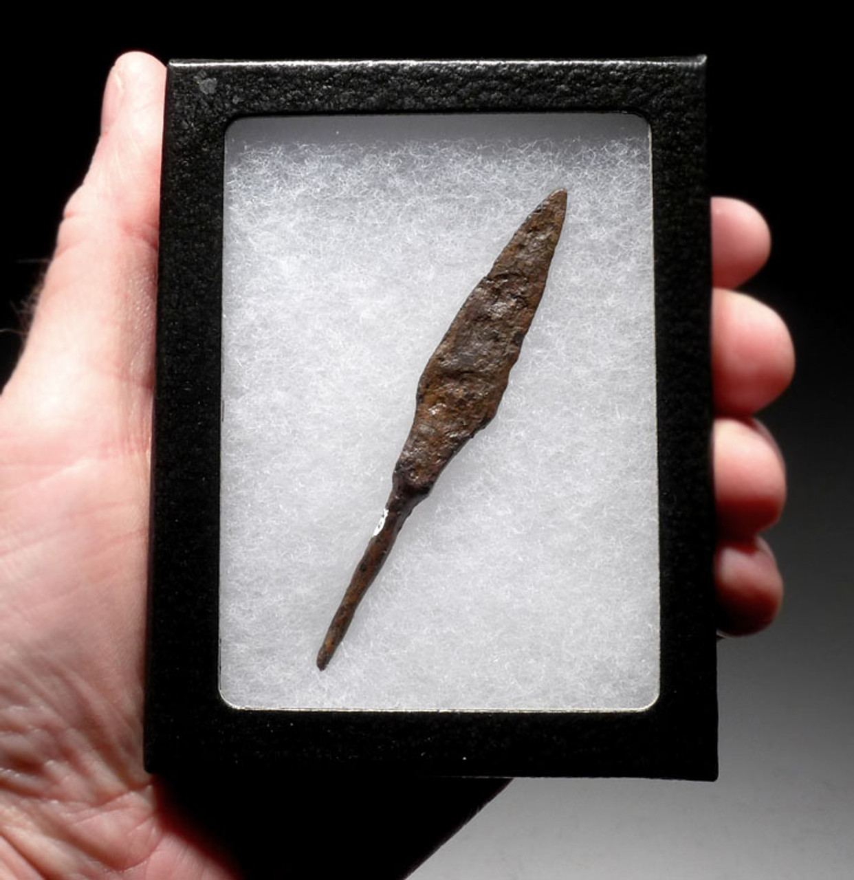 R139 - BYZANTINE ROMAN IRON ARROWHEAD FROM A MOUNTED CAVARLY HORSE ARCHER