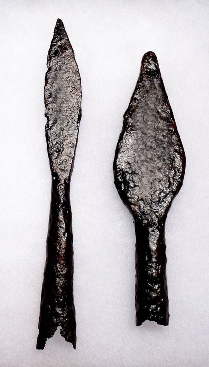 PAIR OF IRON EASTERN ROMAN BYZANTINE THROWING JAVELIN SPEARHEADS *R149