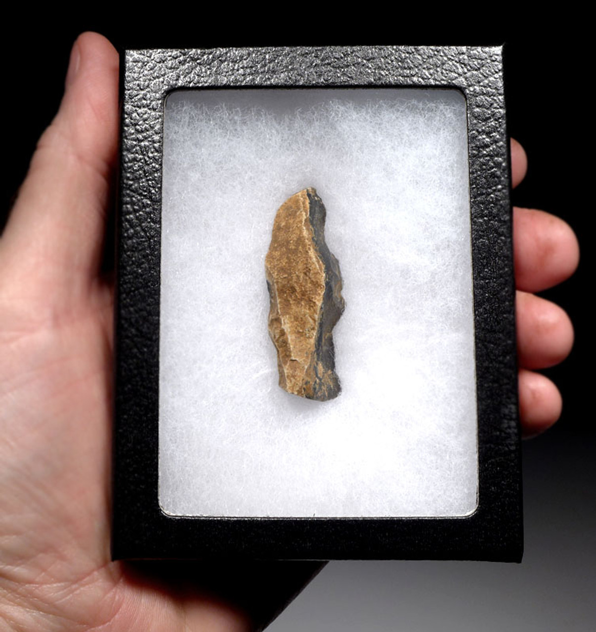 M400 - FLINT NEANDERTHAL MOUSTERIAN NATURALLY BACKED KNIFE FROM FRANCE