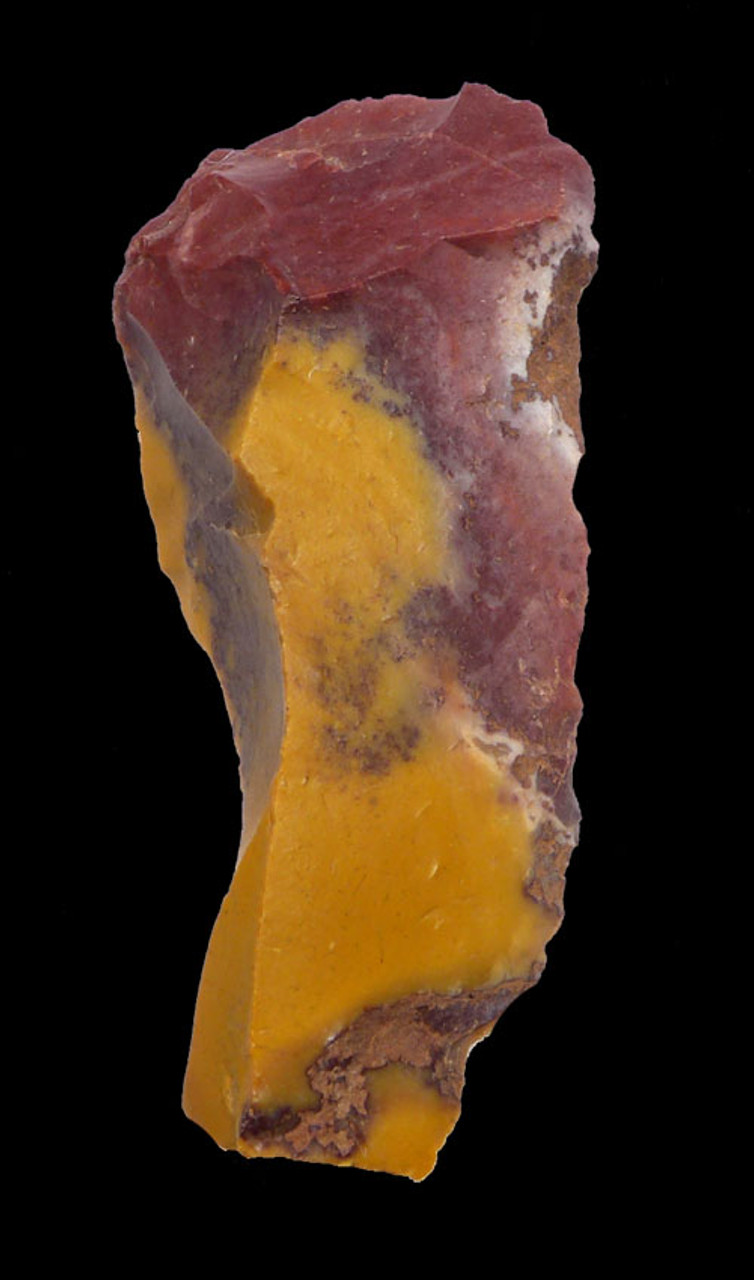M393 - RARE RED AND GOLD JASPER NEANDERTHAL MOUSTERIAN KNIFE BLADE TOOL FROM FONTMAURE FRANCE