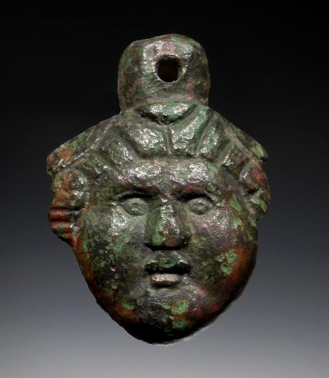 R156 - SUPERB EARLY ANCIENT ROMAN BRONZE DIANA GODDESS PENDANT
