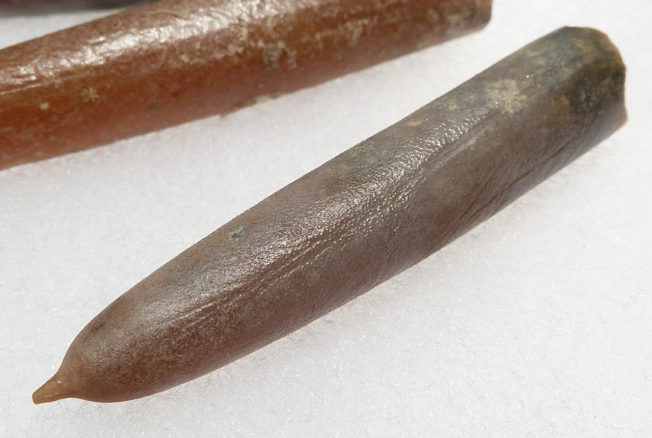 BEL002 - PRISTINE SET OF FIVE LARGE LAB CLEANED CALCITE BELEMNITES FROM THE CRETACEOUS PERIOD