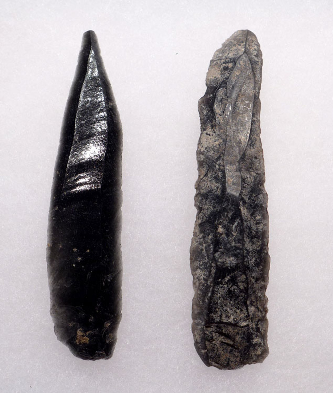 PC224 - SET OF AZTEC OBSIDIAN PRISMATIC SCALPEL AND BLADE IN FINEST PRESERVATION