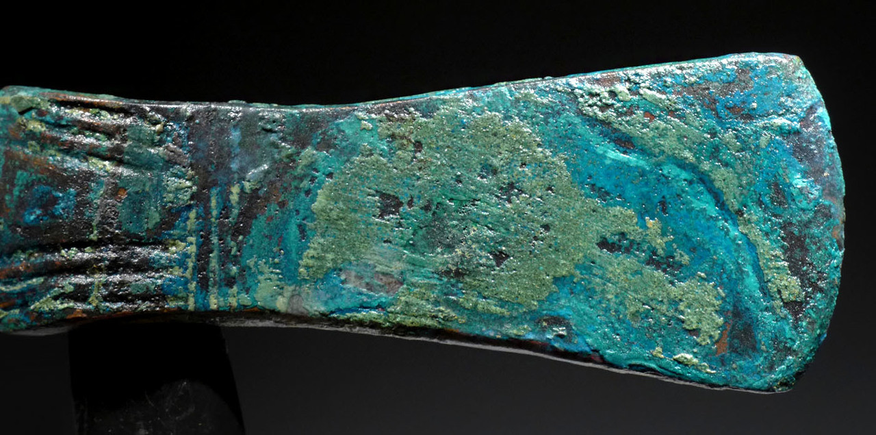 NEPC015 - INCREDIBLE PATINA ANCIENT BRONZE WAR HAMMER AXE FROM THE NEAR EASTERN LURISTAN CULTURE