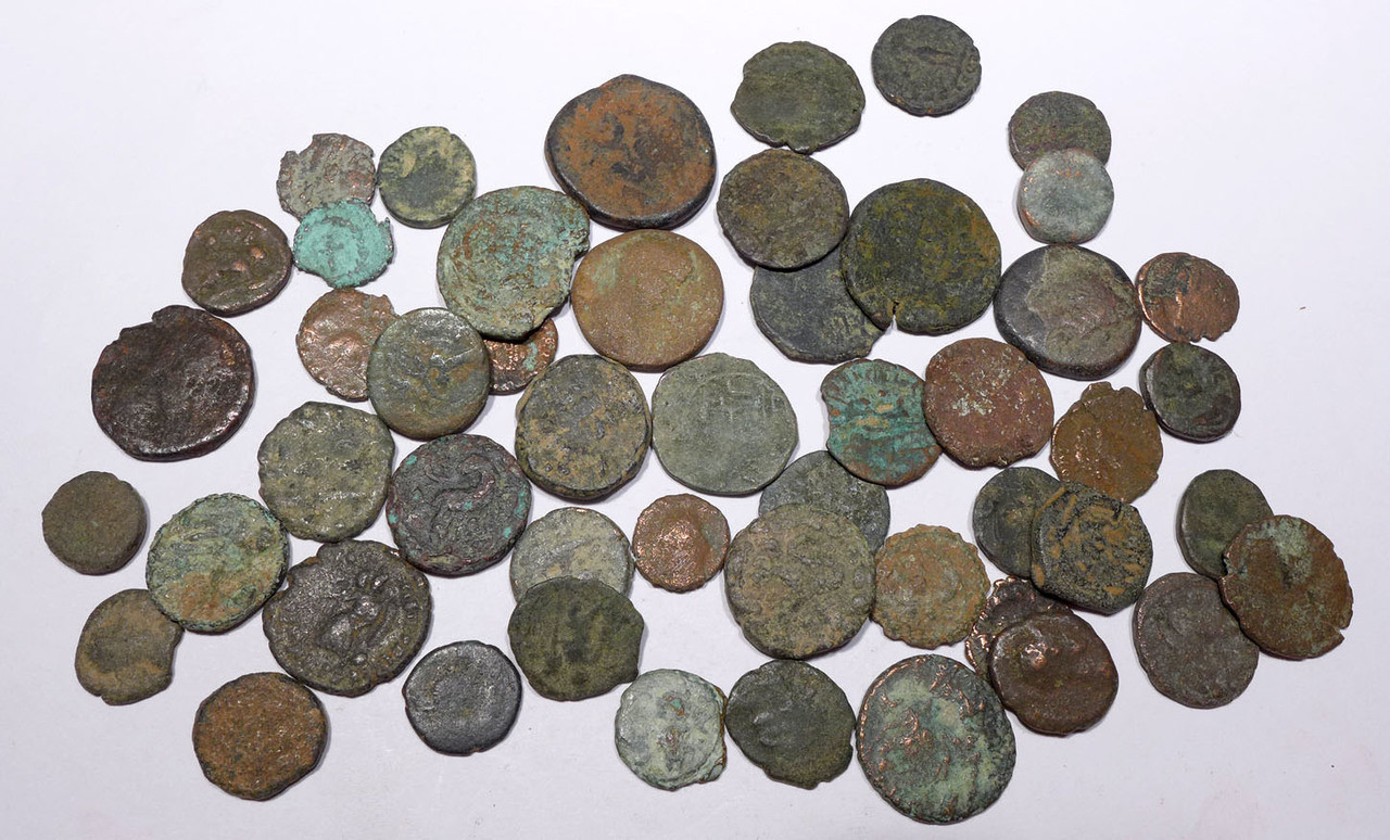 AC009 - 50 QUALITY ANCIENT BRONZE COINS OF ROMAN GREEK BYZANTINE BIBLICAL ISLAMIC CULTURES