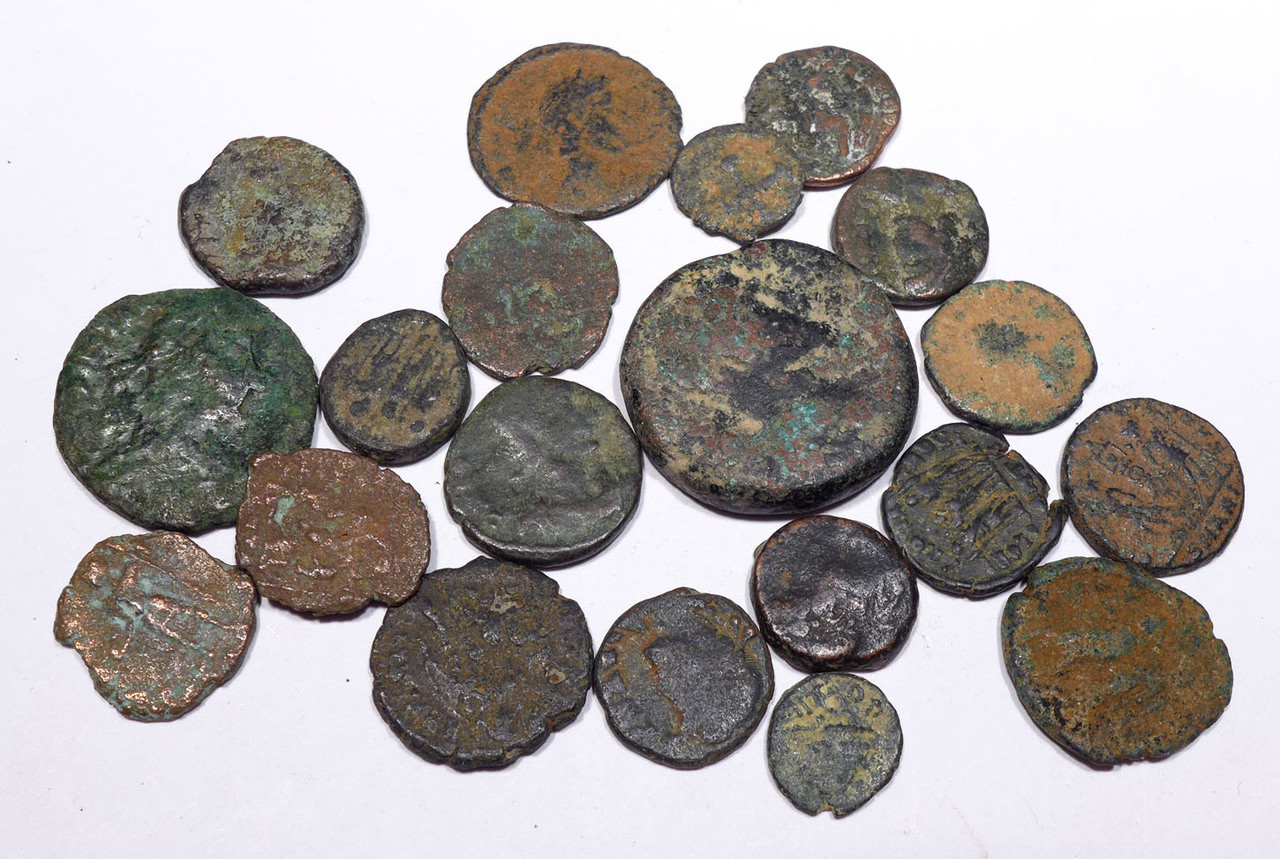 AC006 - 20 QUALITY ANCIENT BRONZE COINS OF ROMAN GREEK BYZANTINE BIBLICAL ISLAMIC CULTURES