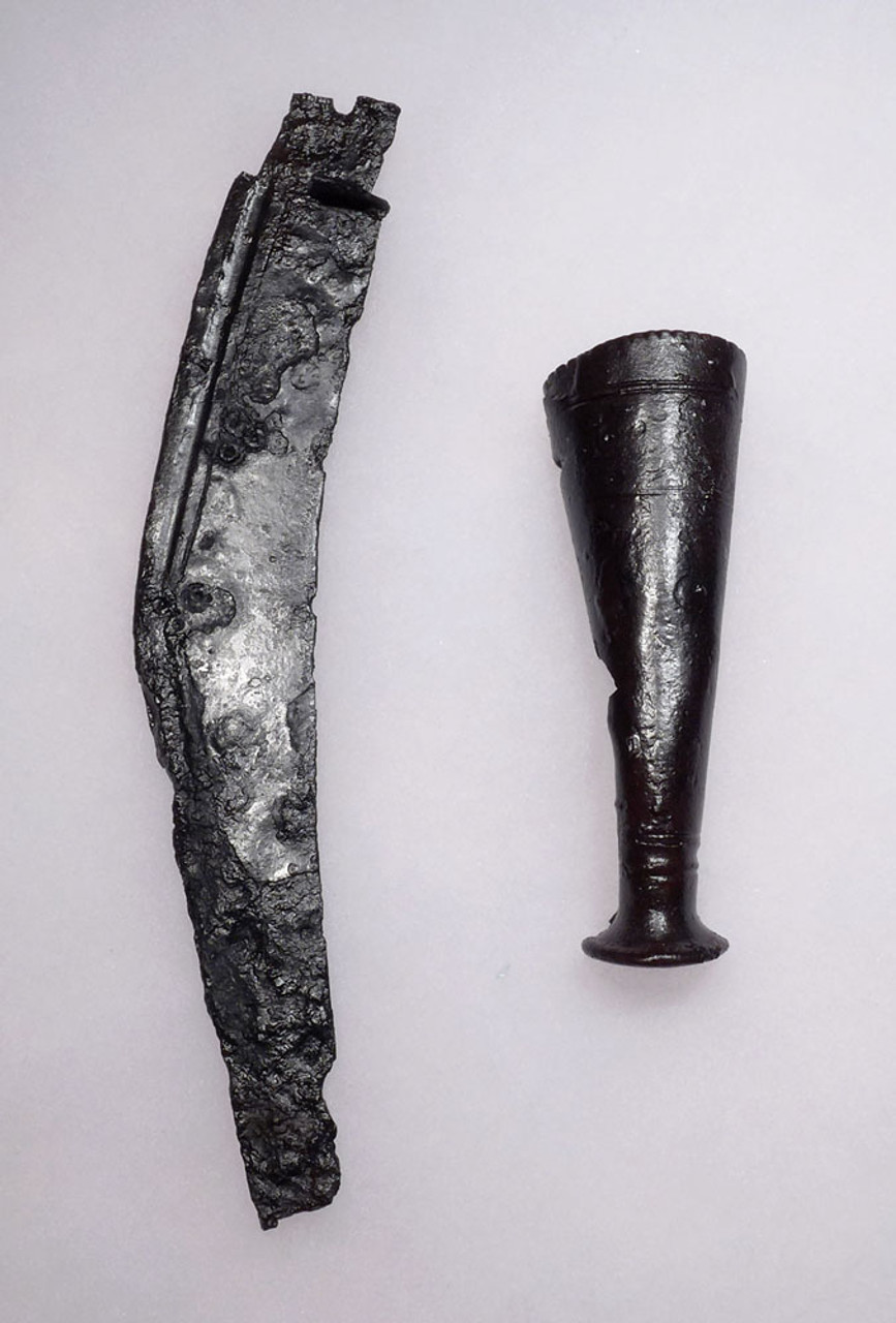 EXTREMELY RARE ANCIENT BALTIC CELTIC IRON KNIFE MACHAIRA SET *CEL002