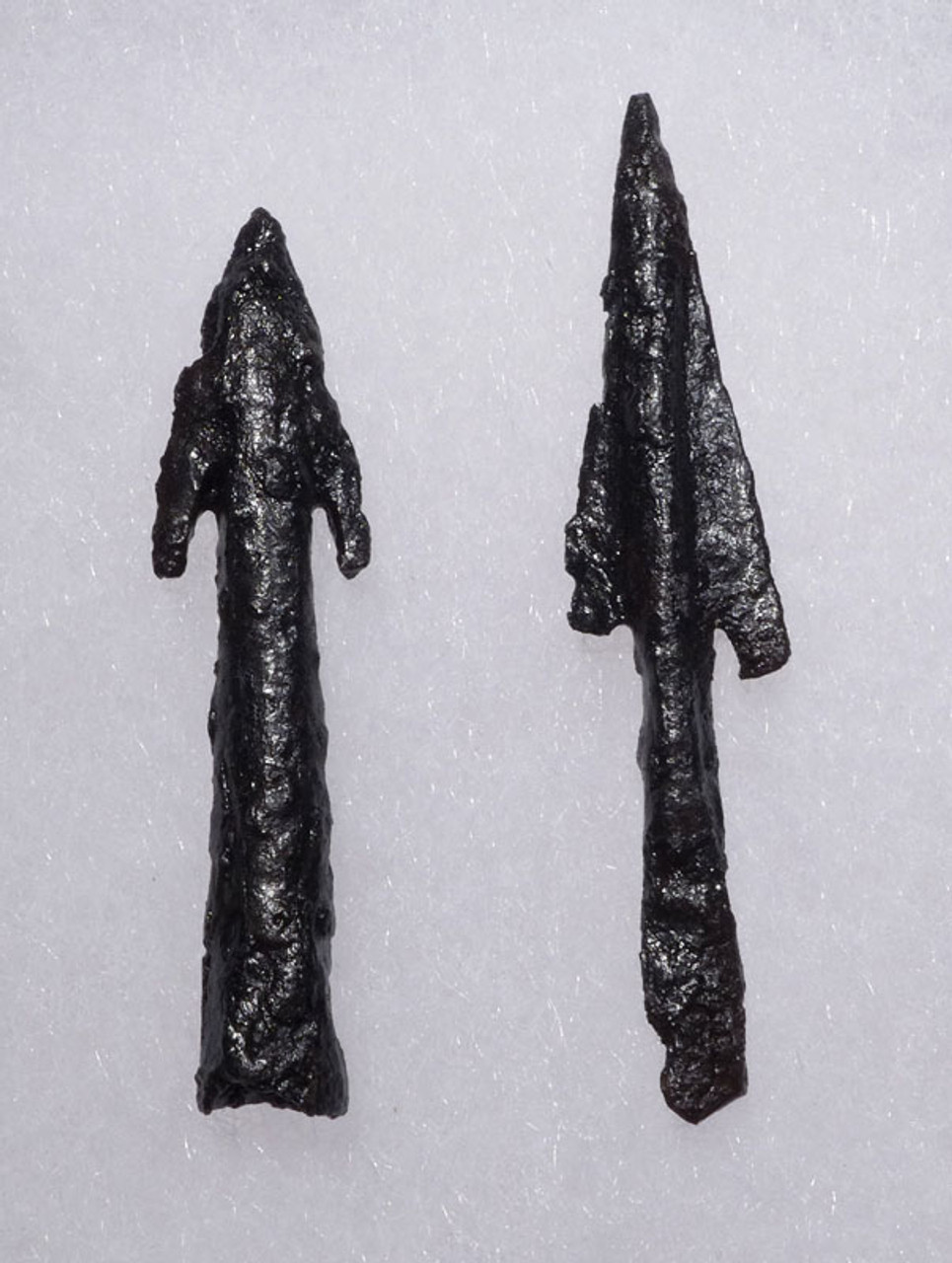 TWO RARE BYZANTINE ROMAN BARBED IRON ARROWHEADS FROM LIGHT CAVALRY ARCHER *R169