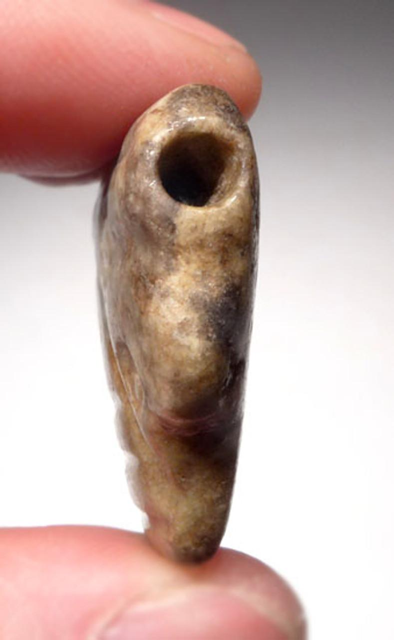 LARGE IMPRESSIVE PRE-COLUMBIAN AZTEC JADE SKULL PENDANT *PC108