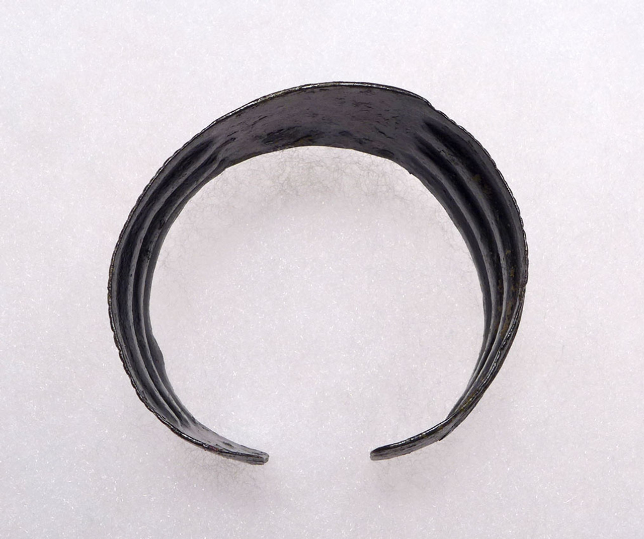 ANCIENT NEAR EASTERN HAMMERED DECORATIVE BRONZE BANGLE BRACELET *NE185