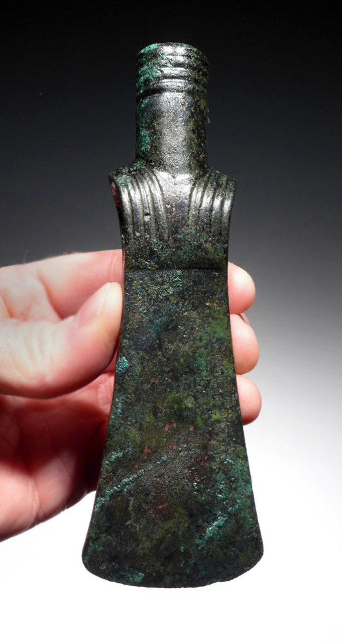 EXCEPTIONAL ANCIENT BRONZE WAR HAMMER AXE FROM THE NEAR EASTERN LURISTAN CULTURE *NE188
