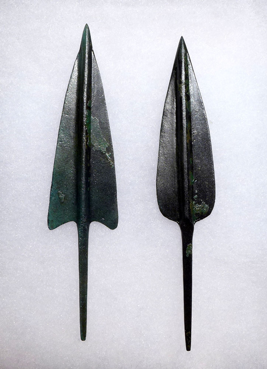 TWO SPECTACULAR LARGE ANCIENT BRONZE ARROWHEADS FROM THE NEAR EASTERN LURISTAN CULTURE *NE194