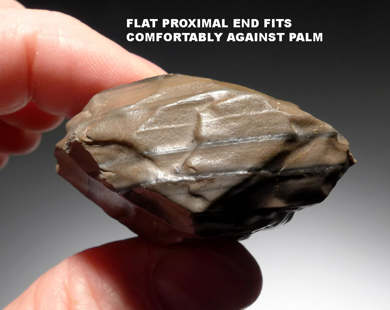 STUNNING AESTHETIC NORTH AFRICAN MOUSTERIAN TABULAR FLINT HANDAXE *M404