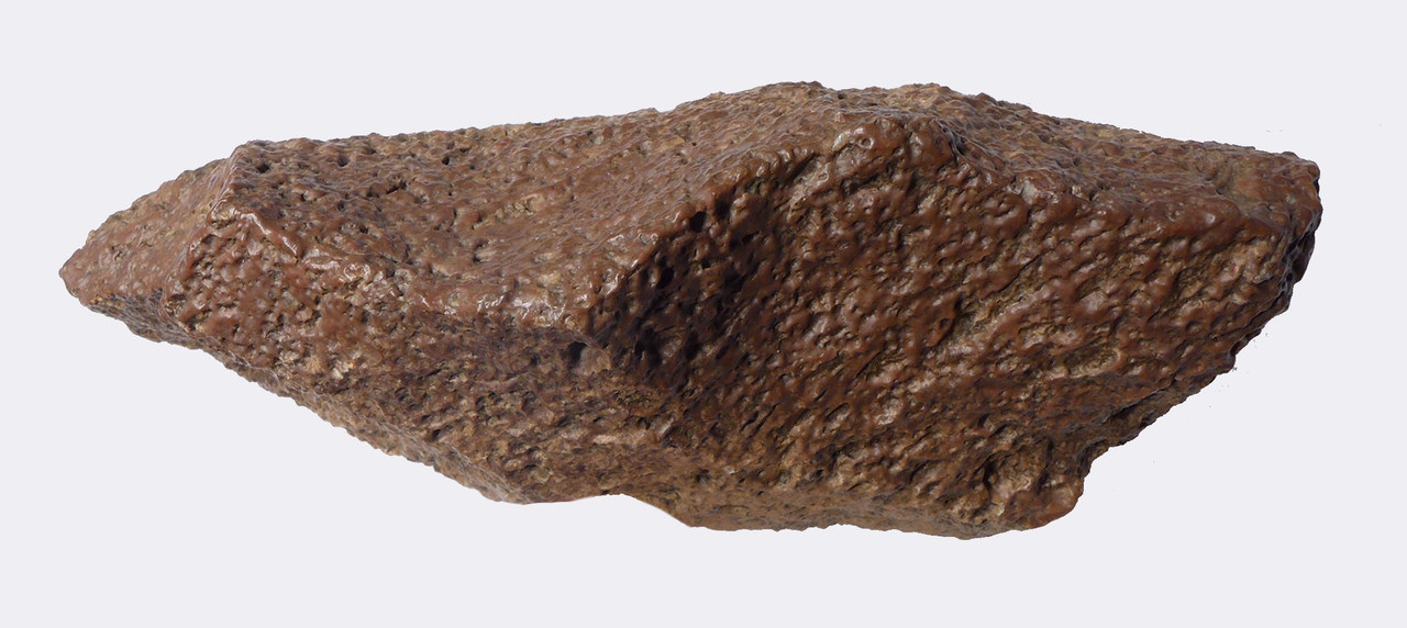 LARGE OLDOWAN LOWER PALEOLITHIC CHOPPER AXE FROM AFRICA MADE OF VESICULAR BASALT WITH STUNNING WIND POLISHING *PB133