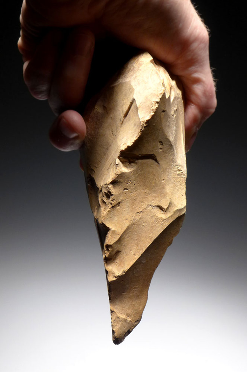 EXTREMELY RARE INVESTMENT-CLASS ACHEULIAN STONE PRESTIGE PICK HAND AXE FROM THE ARABIAN DESERT OF JORDAN *ACH250
