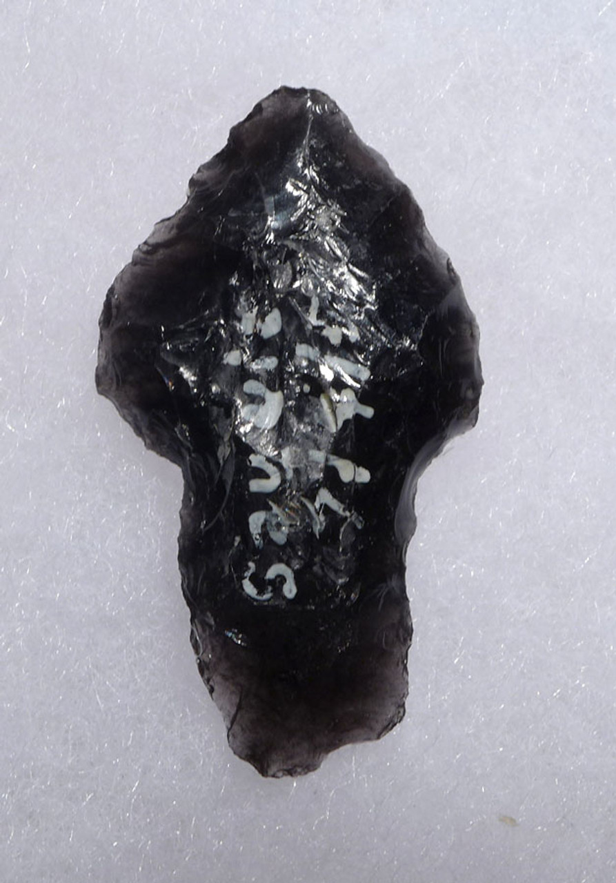 UNIQUE PRE-COLUMBIAN OBSIDIAN ATLATL SPEARHEAD FROM THE HEFLIN COLLECTION * PC259