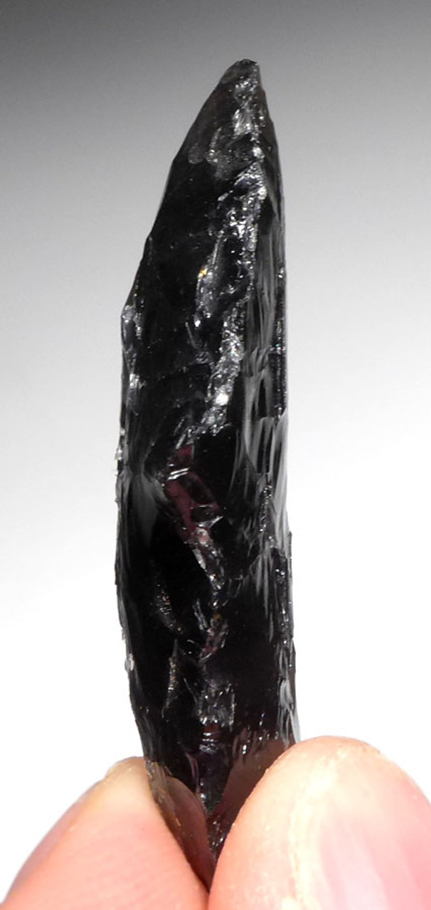 EXCEPTIONAL PRE-COLUMBIAN OBSIDIAN ATLATL SPEARHEAD POINT FROM THE HEFLIN COLLECTION * PC263