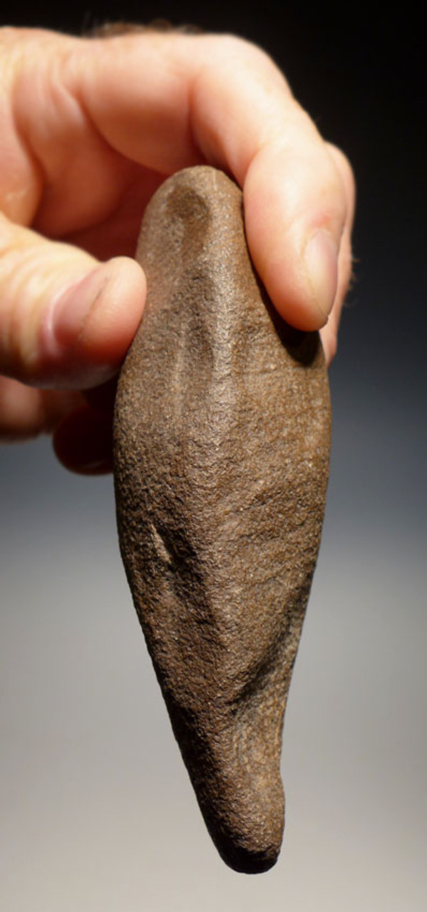SMALL ACHEULIAN QUARTZITE FICRON HANDAXE MADE BY HOMO ERGASTER WITH HEAVY WIND EROSION *ACH219