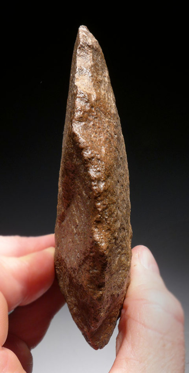 SUPERB OVATE HOMO ERGASTER ACHEULIAN HAND AXE FROM THE LOWER PALEOLITHIC OF AFRICA *ACH259
