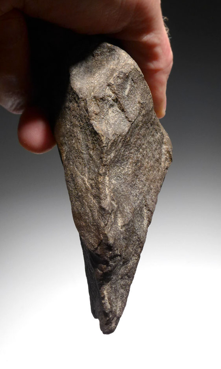 HEAVY LOWER PALEOLITHIC ACHEULIAN HAND AXE FROM AFRICA MADE BY HOMO ERGASTER *ACH272