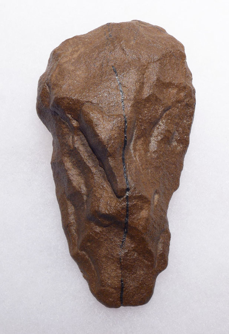 ACHEULIAN HAND AXE WITH PURPOSELY DESIGNED ARTISTIC FEATURE MADE BY HOMO ERGASTER OF THE AFRICAN LOWER PALEOLITHIC *ACH253