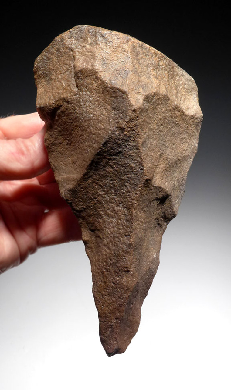 FINEST STONE AGE ACHEULIAN FICRON HAND AXE FROM AFRICA WITH EXCEPTIONAL WORKMANSHIP *ACH263
