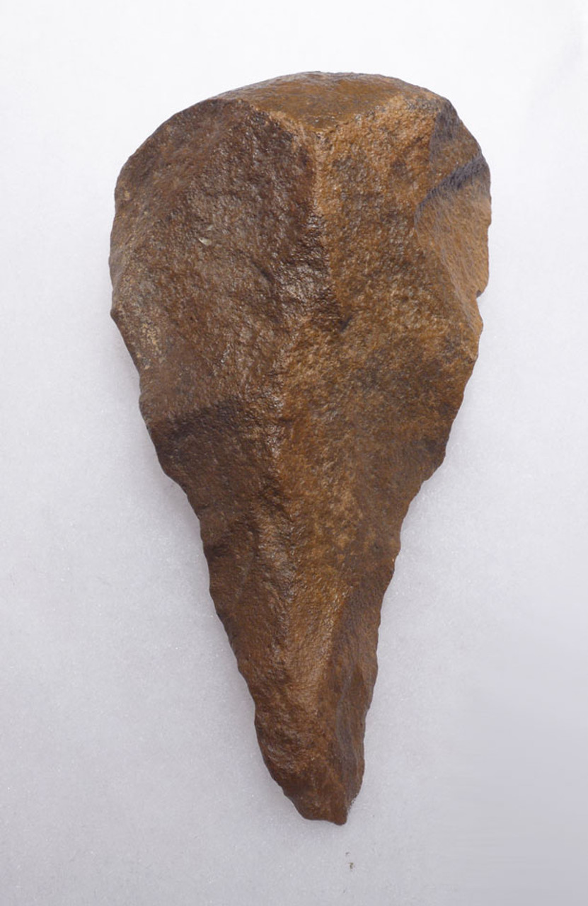 EXQUISITE AFRICAN STONE AGE ACHEULIAN FICRON HAND AXE WITH SHARP TIP *ACH263