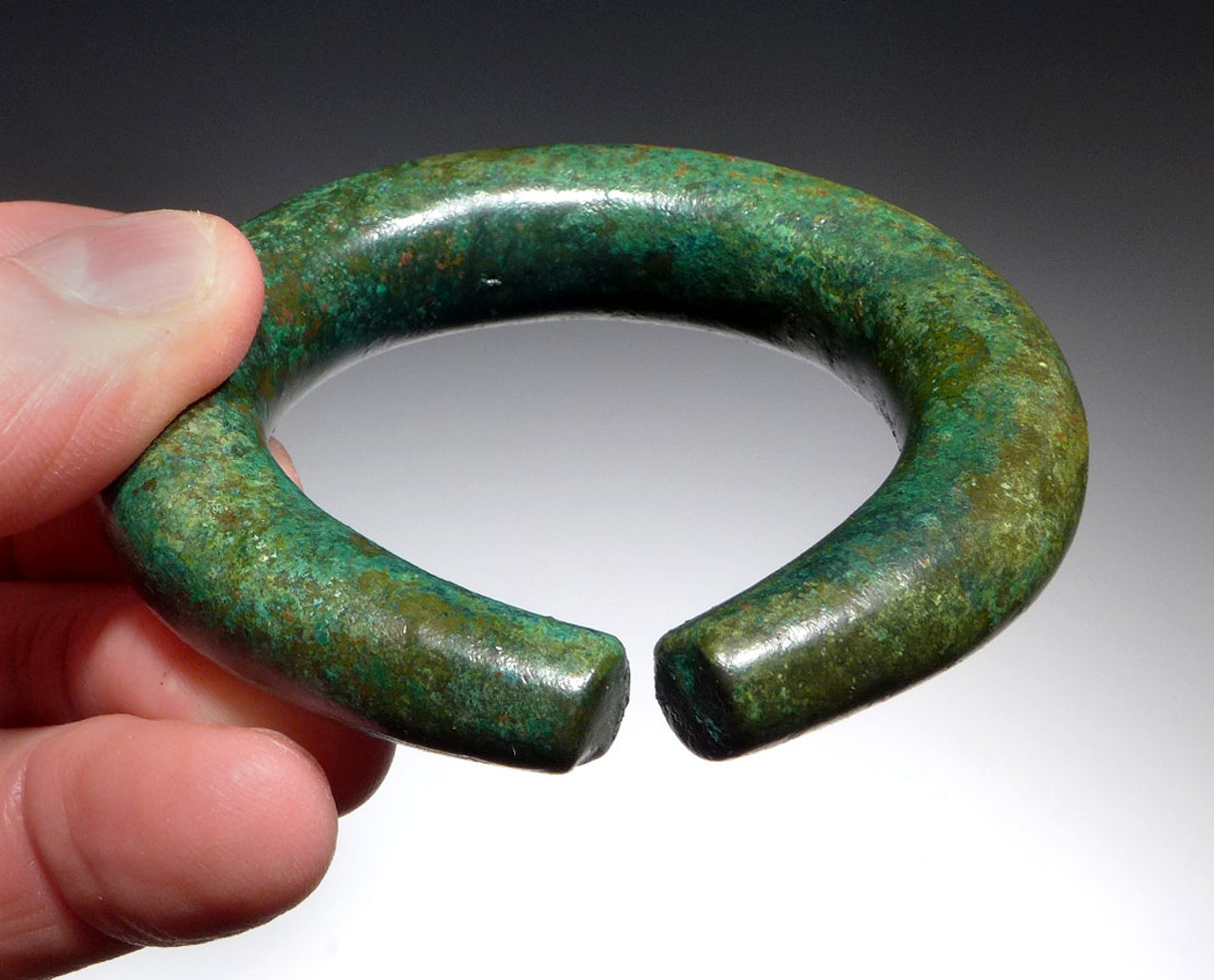 HEAVY SOLID LURISTAN BRONZE ANCIENT NEAR EASTERN BANGLE BRACELET / ANKLET POSSIBLY FOR CHILD *NE200