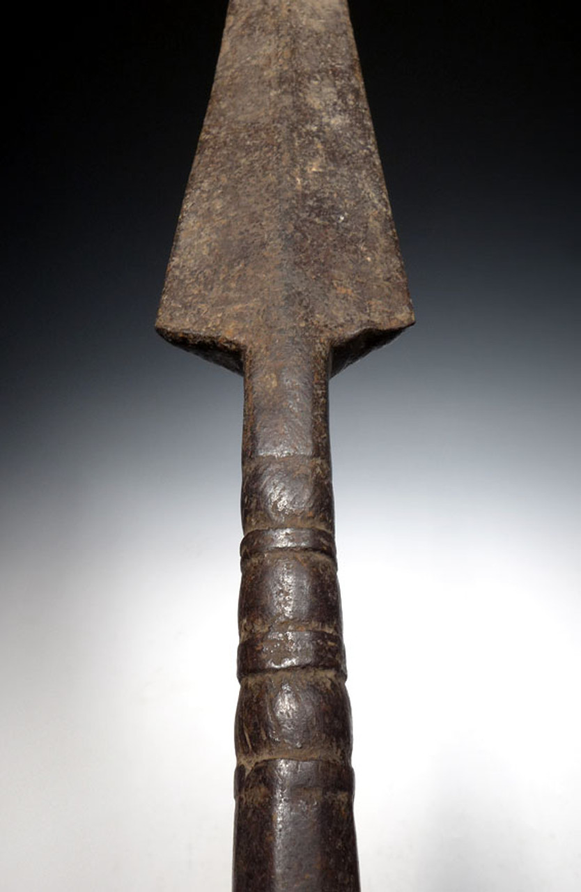 LARGE UMAYYAD DYNASTY ANCIENT IRON SPEAR HEAD FROM THE EARLY ISLAMIC ENEMY OF THE BYZANTINE ROMAN EMPIRE *LUR098