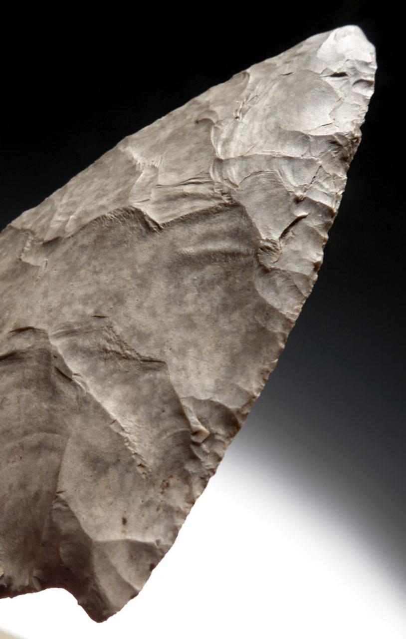 MUSEUM-CLASS PRE-COLUMBIAN MAYAN CHERT BIFACIAL SPEARHEAD *PC277