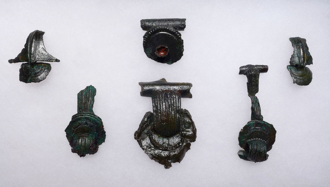 EXTREMELY RARE ANCIENT CELTIC BRONZE JEWELRY GROUP OF THE HIGHEST WORKMANSHIP UNIQUE TO THE CELTS *CEL005