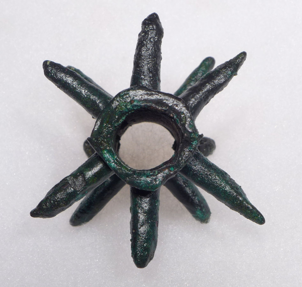 RARE ANCIENT BRONZE SPIKED DECORATIVE MACE HEAD FROM THE NEAR EAST *LUR115